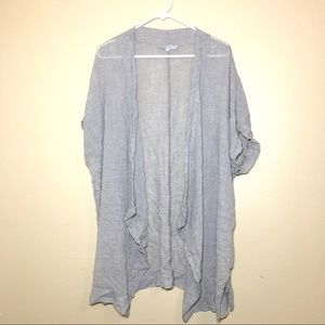 bryn Walker light linen shirt sleeve shawl